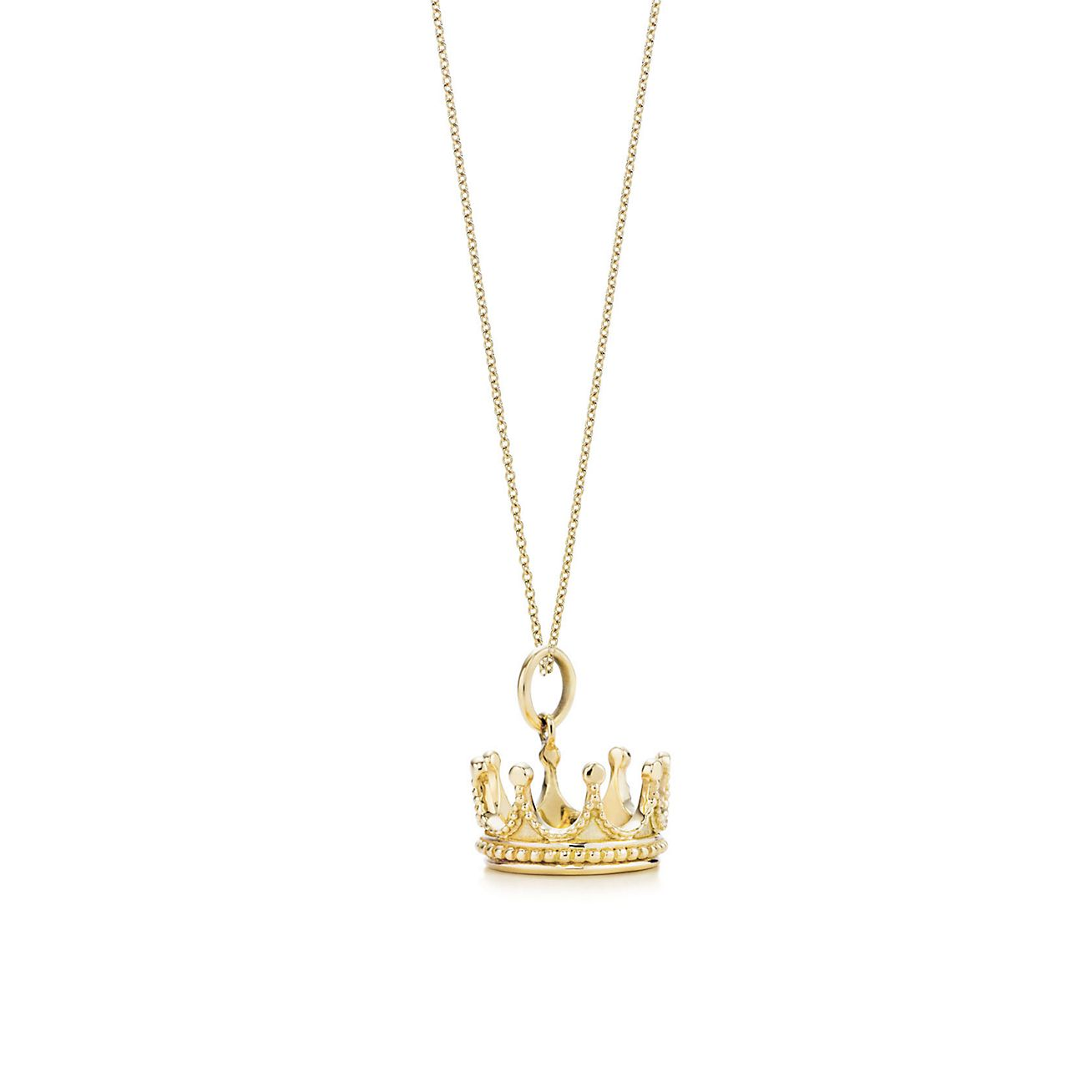 Jewelry Necklaces Pendants Crown Charm And Chain Grp04796 Crown Necklace Tiffany