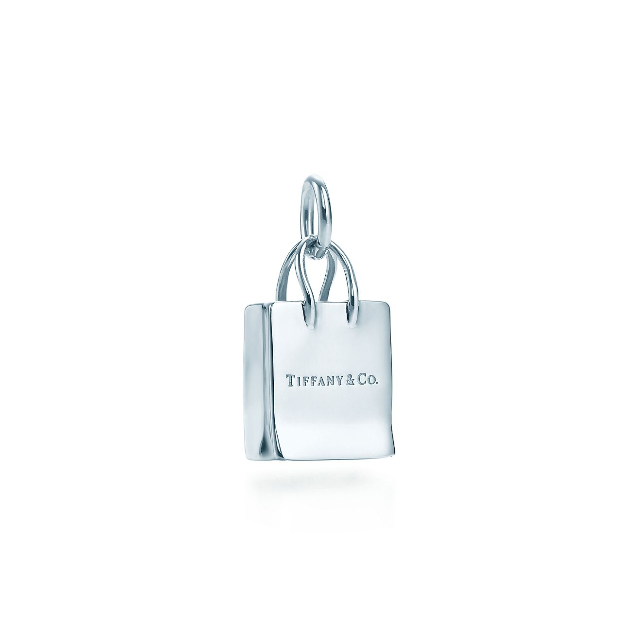 Tiffany & Co.® shopping bag charm in sterling silver. | Tiffany & Co.
