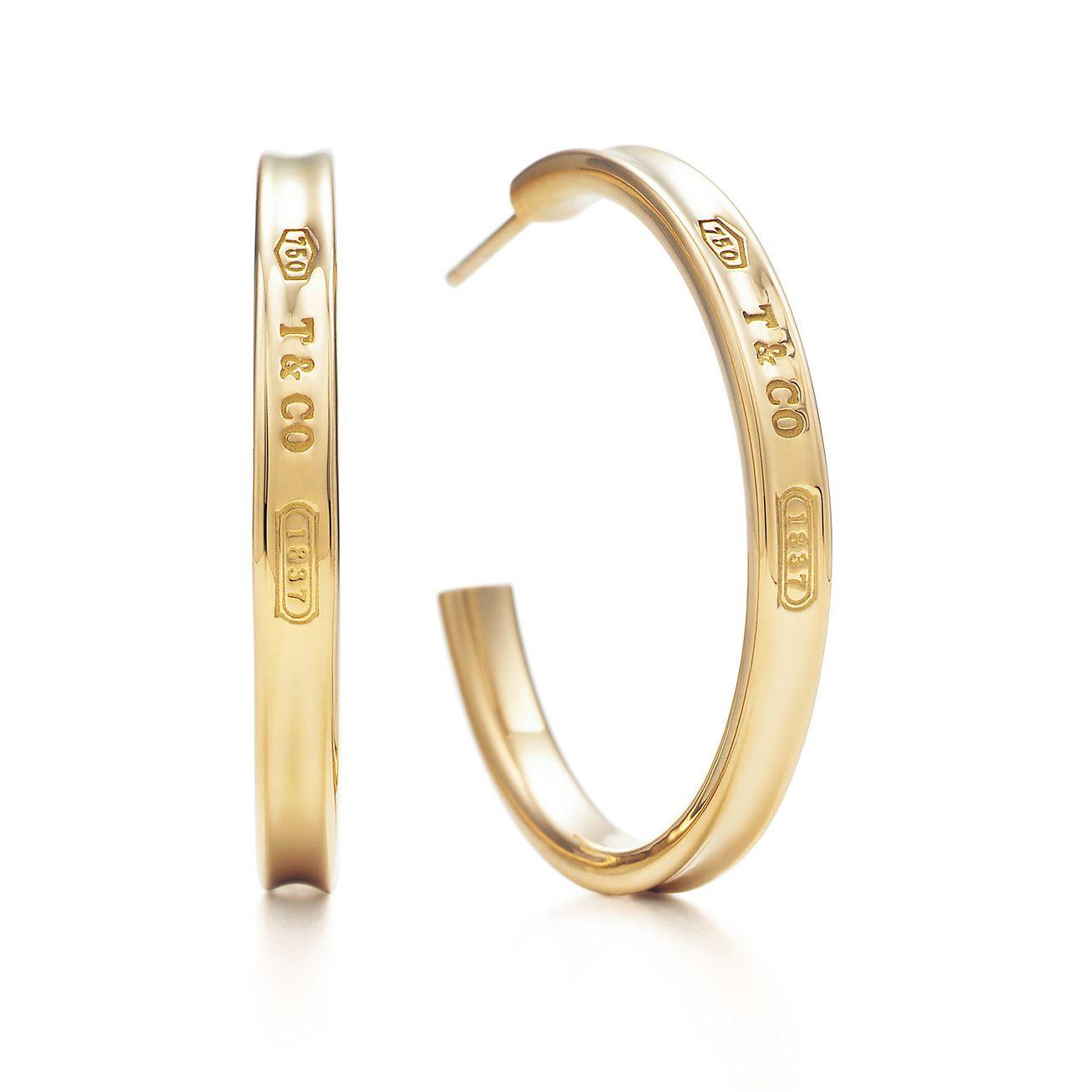 4210704ac tiffany 1837 circle earrings gold