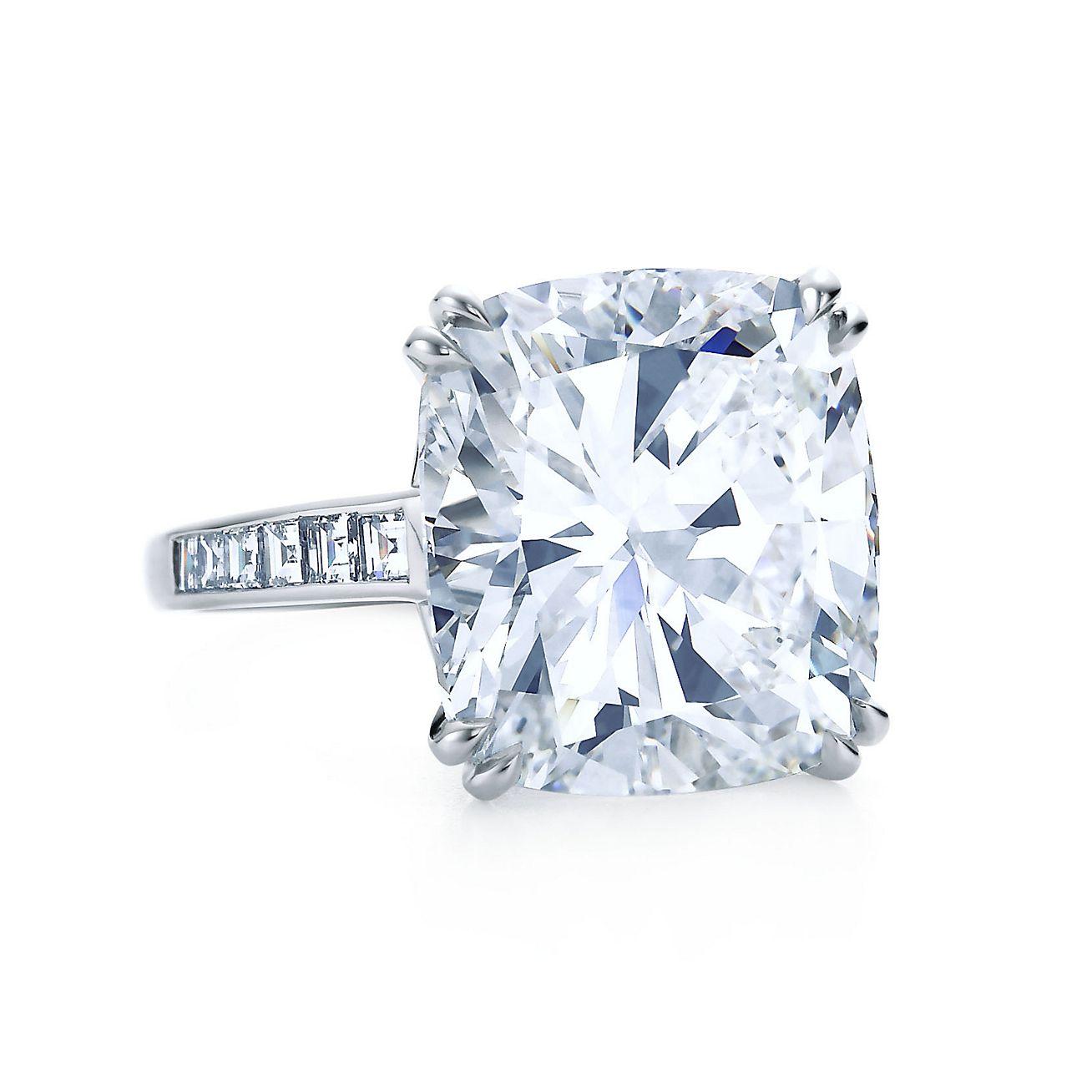 important cushion cut diamond ring - Tiffanys Wedding Rings