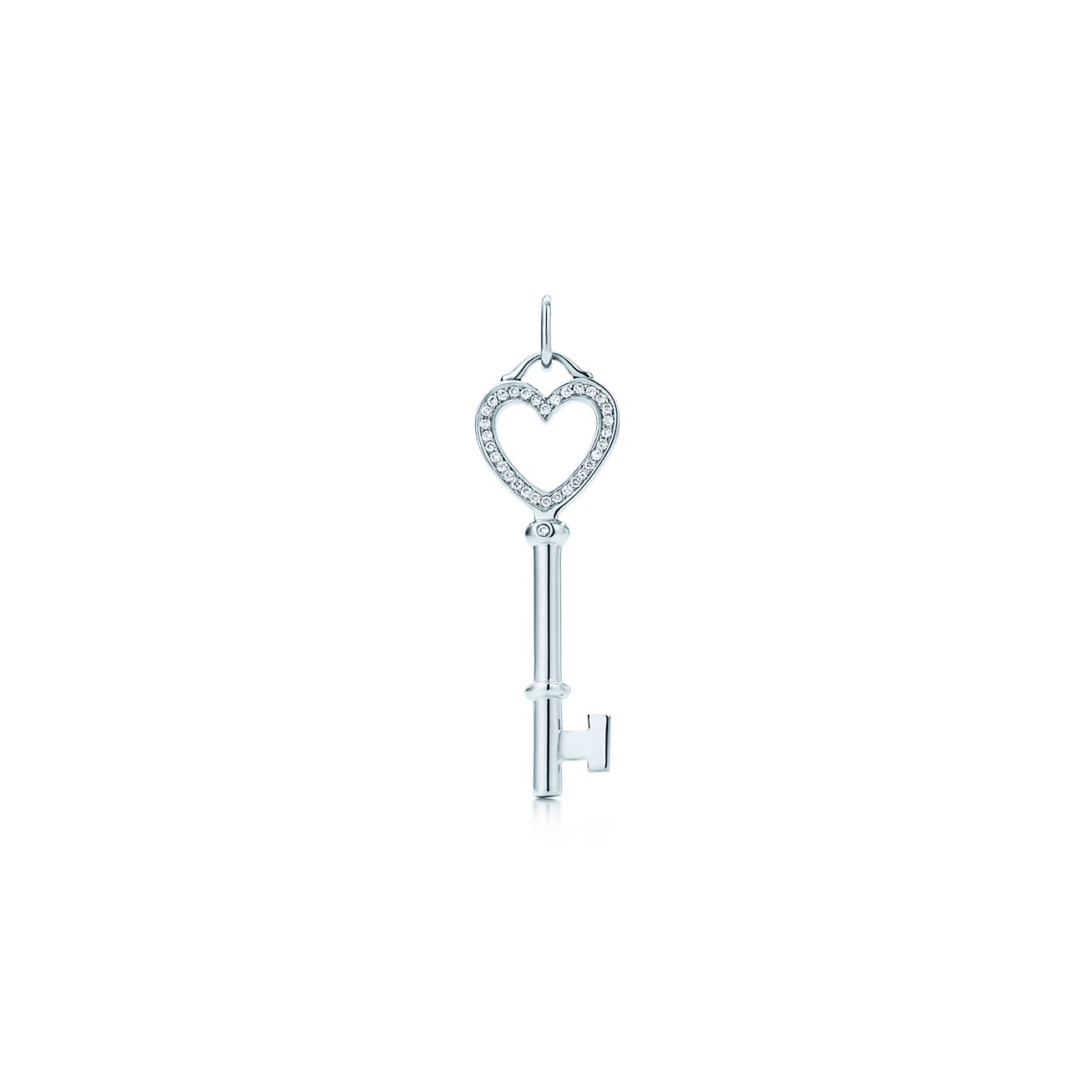 517cb804b ... diamonds small. tiffany keysheart key pendant; tiffany and co sterling  silver crown ...