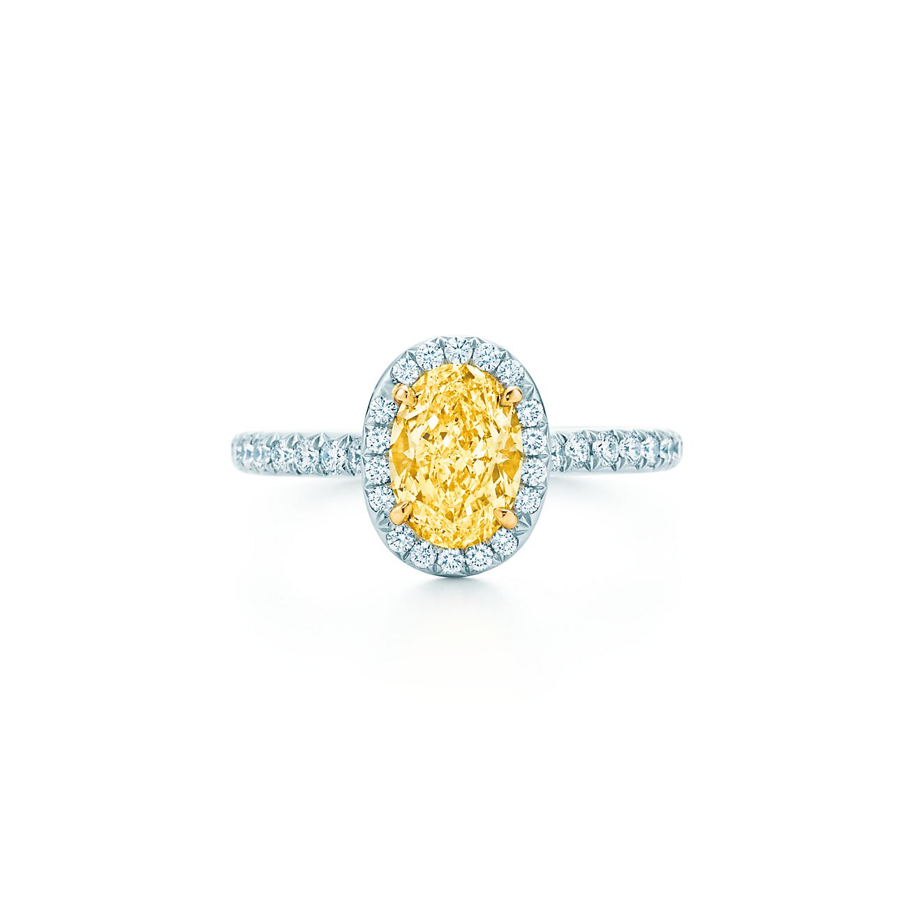 New Tiffany Soleste® Yellow And White Diamond Ring In Platinum And 18k Gold