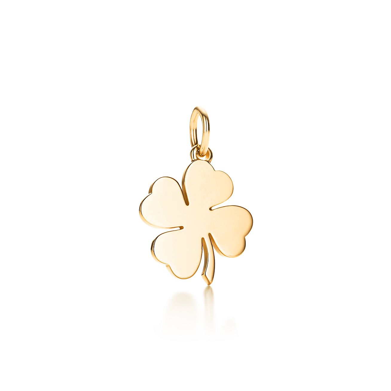 four leaf clover charm in 18k gold tiffany u0026 co