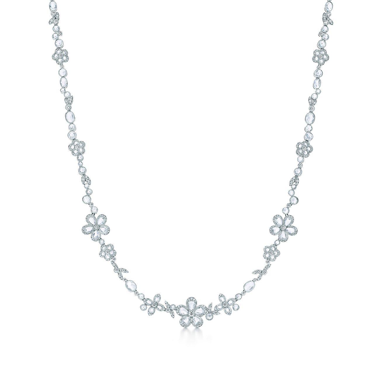 2d6941af0 ... tiffany garden flower earrings in platinum ...