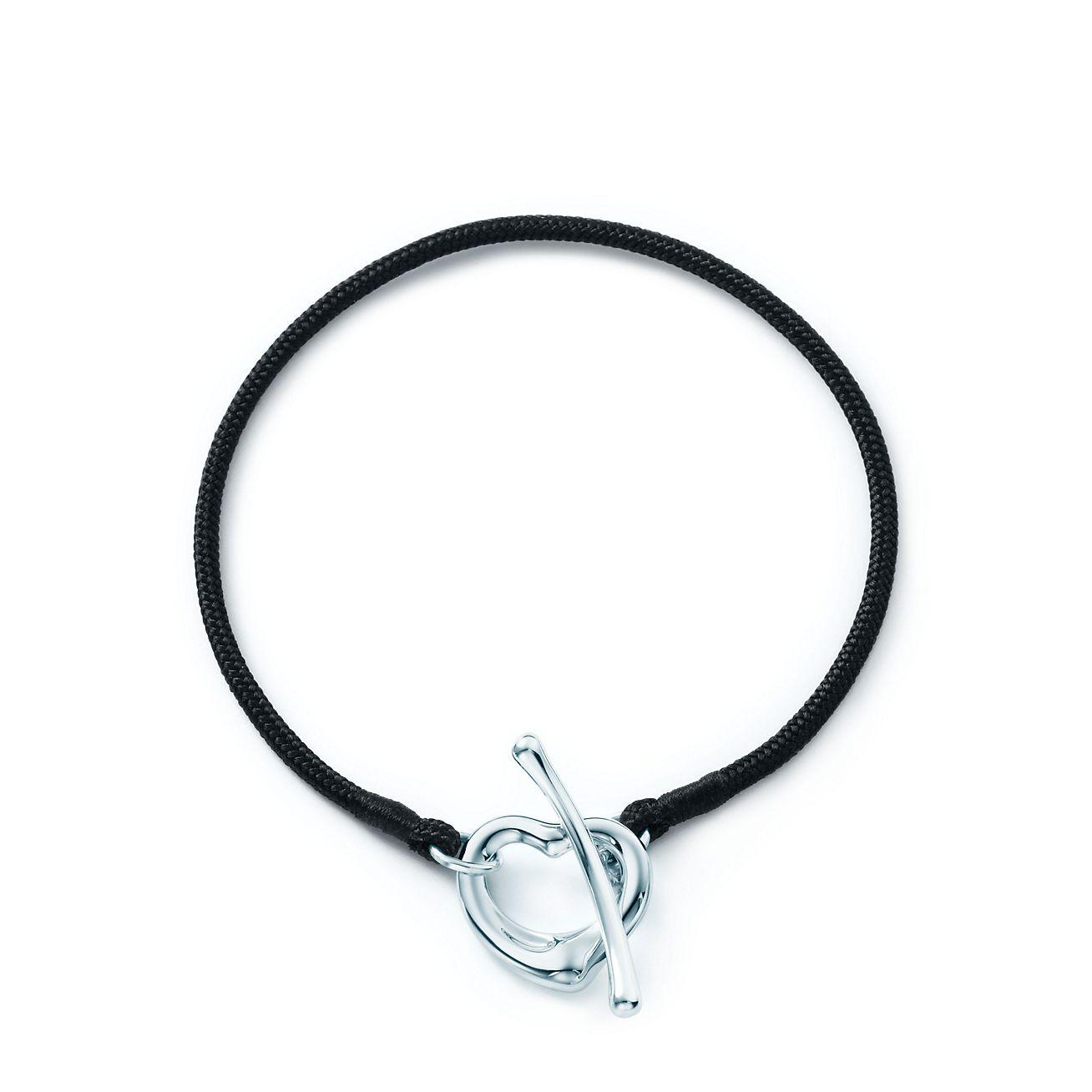 Jewelry Bracelets Elsa Peretti Open Heart Silk Bracelet Grp04940 Top Tiffany Bracelets
