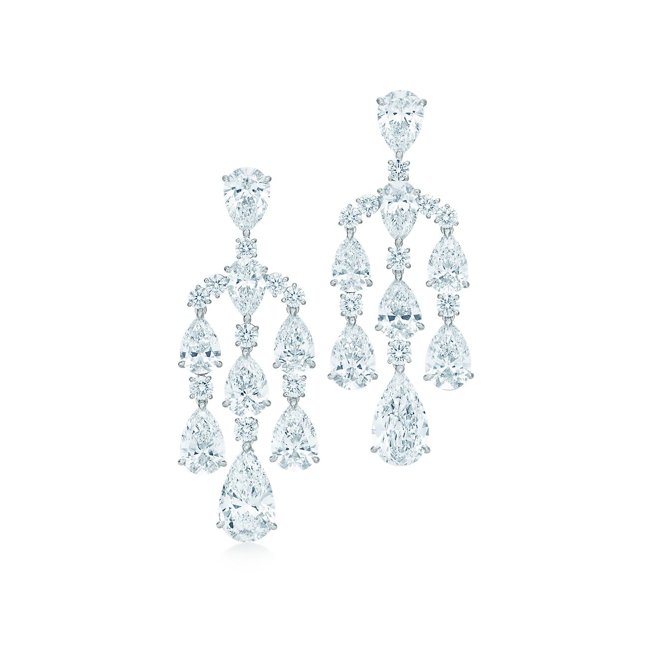 The Gatsby Collection chandelier earrings in platinum with – Tiffany Chandelier Earrings