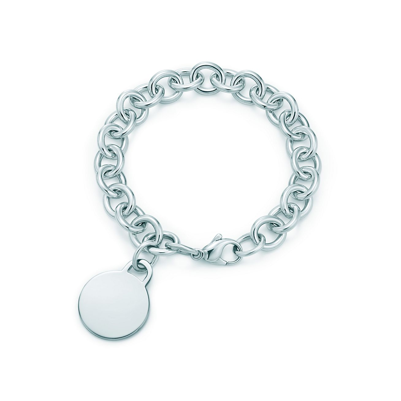 Explore Engraved Business Gifts Round Tag Charm Bracelet 28684037 Tiffany Charms For Sale