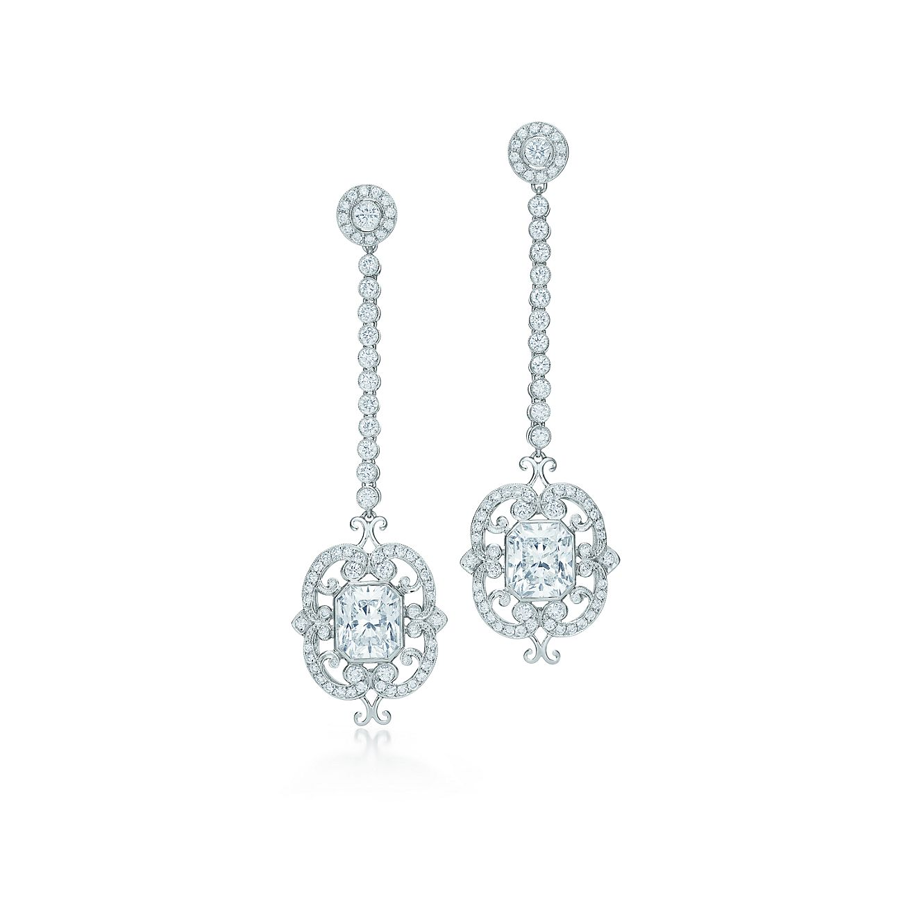 Tiffany and co diamond drop earrings for Diamond and jewelry exchange orlando