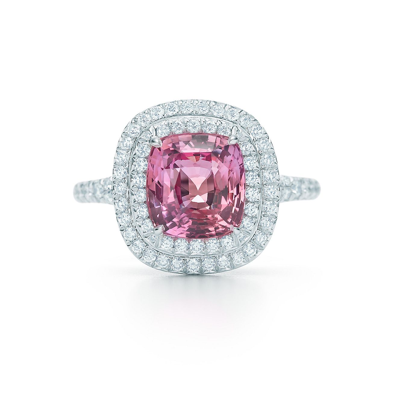 Tiffany Soleste®:unenhanced Padparadscha Sapphire Ring