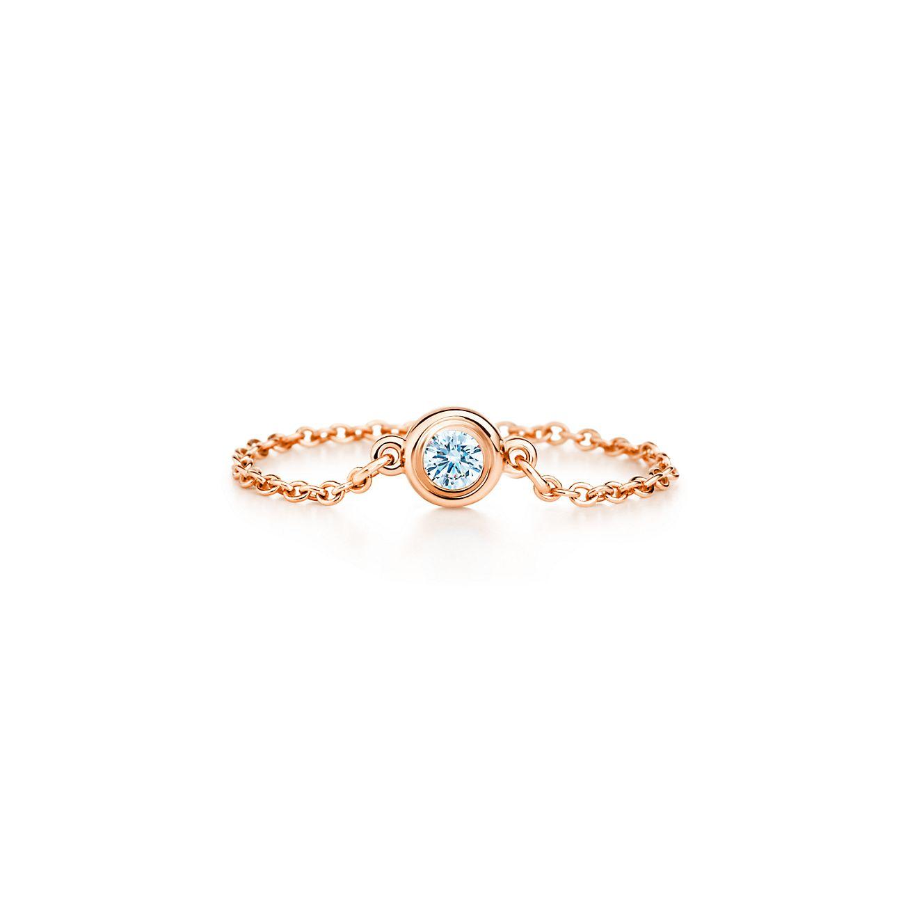 new elsa peretti diamonds by the yard ring in 18k rose gold - Elsa Peretti Color By The Yard Ring