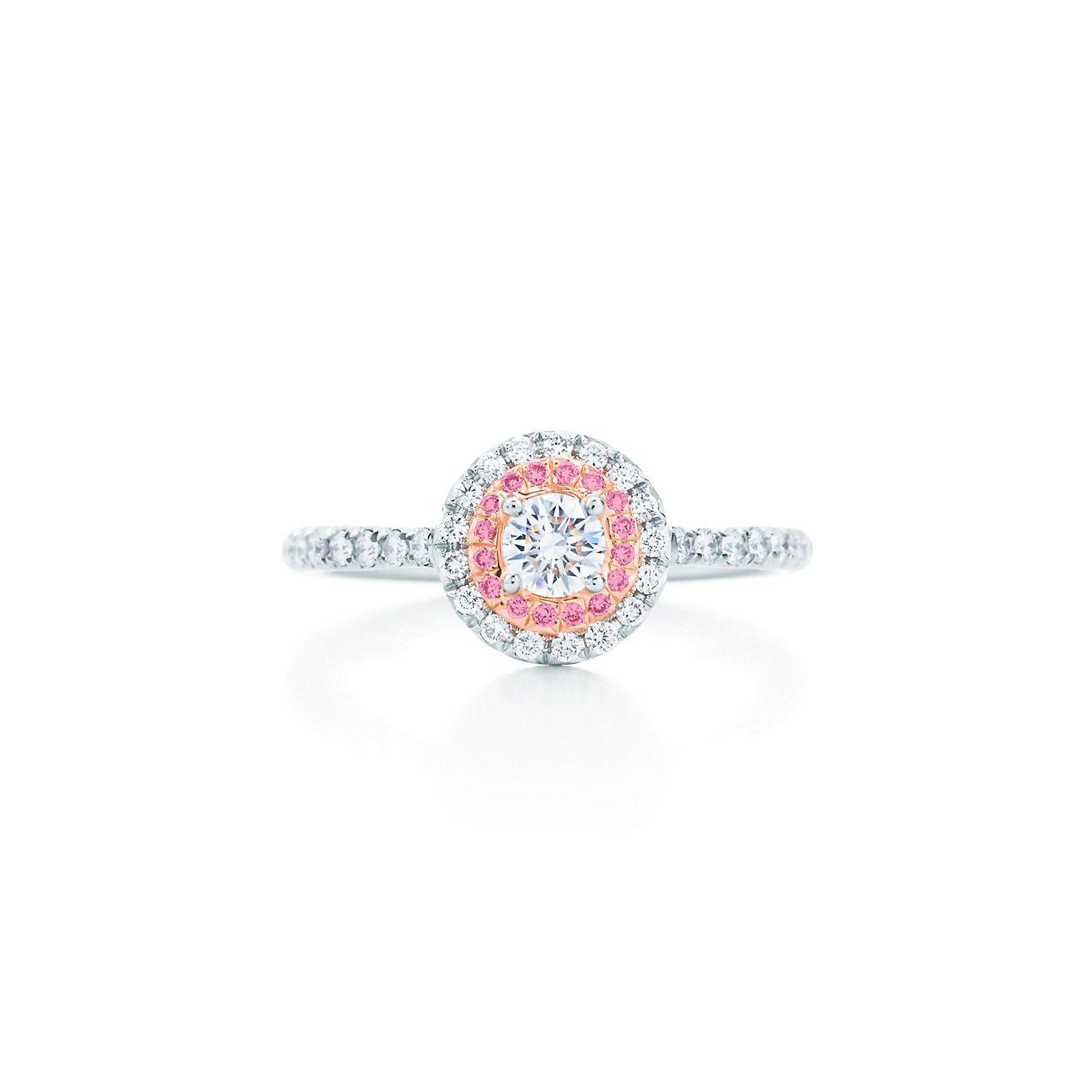 pink diamond engagement rings tiffanys