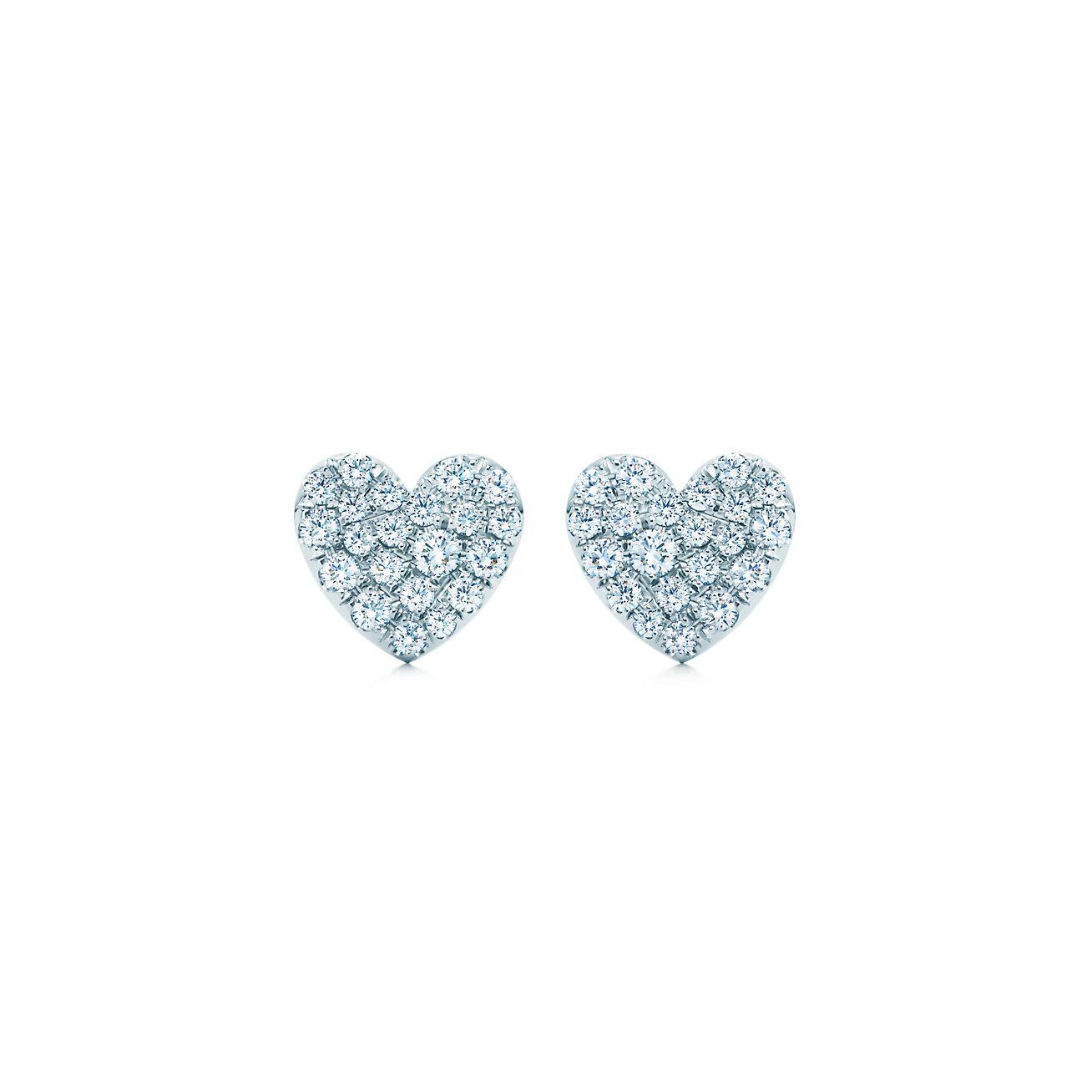 Diamond heart earrings - Heart Earrings Heart Earrings