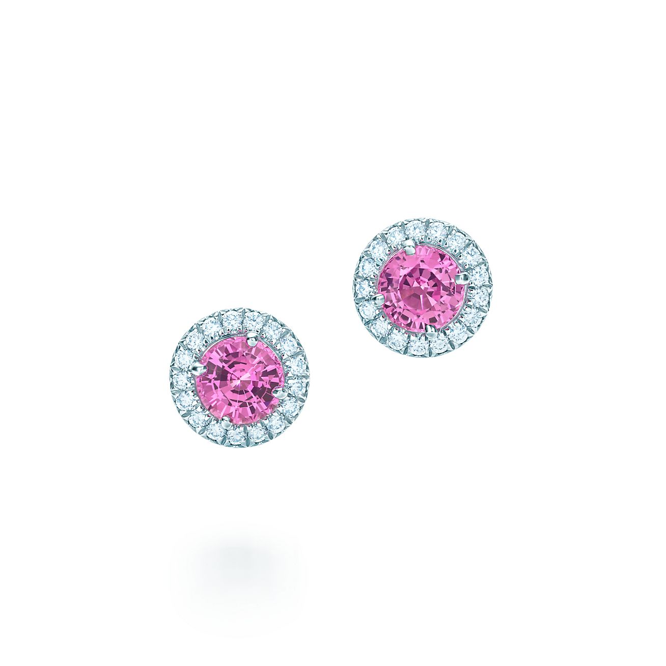 Tiffany Soleste®:pink Sapphire And Diamond Earrings