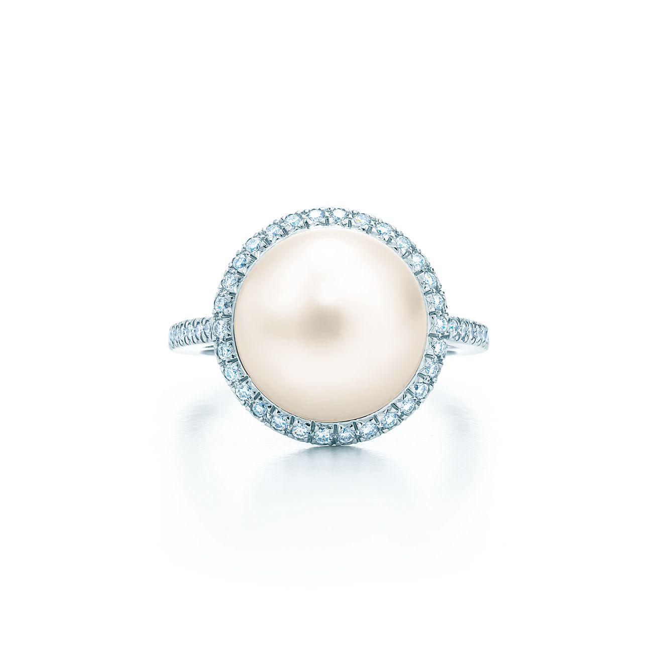 Tiffany South Sea Noble:pearl Ring
