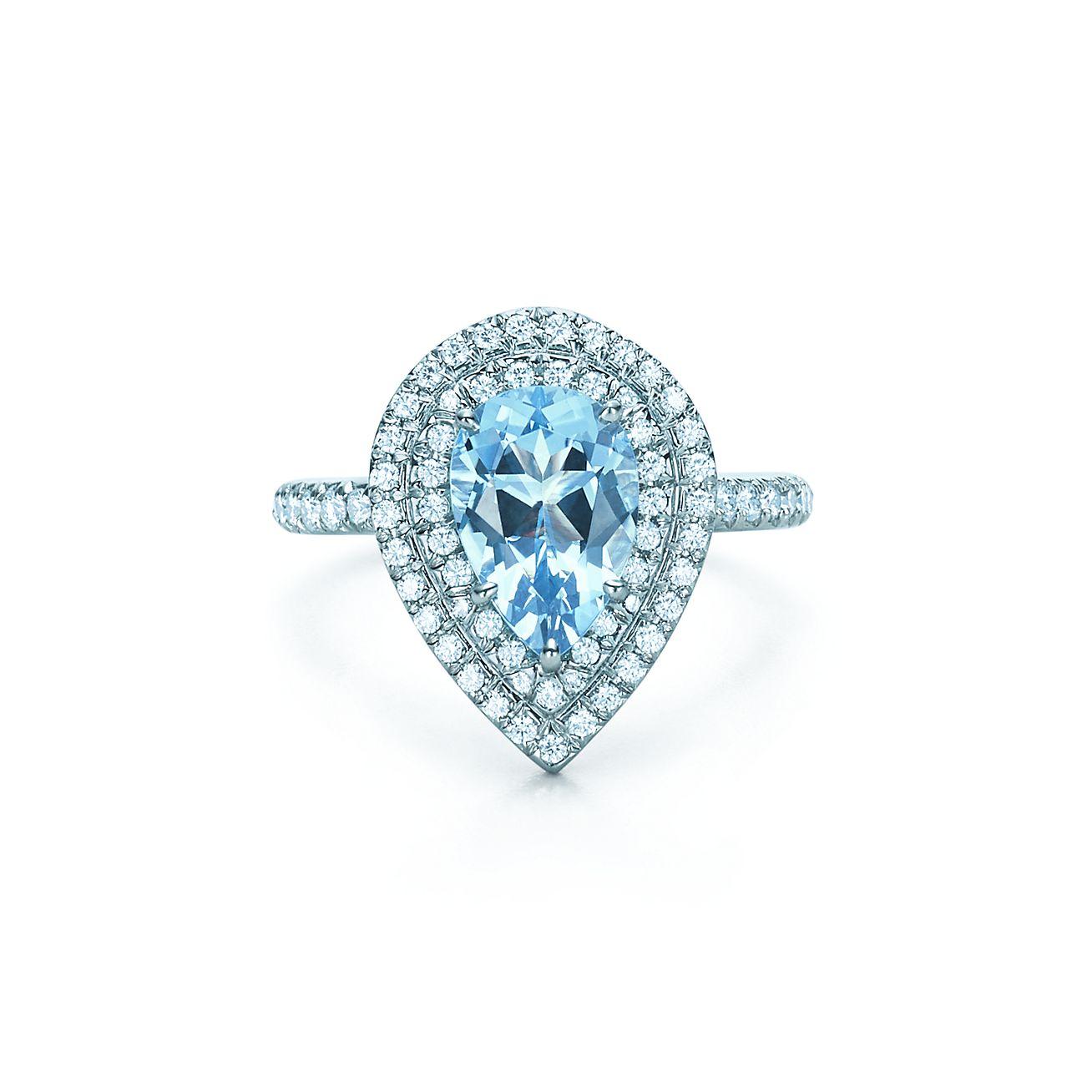 Tiffany Soleste®:aquamarine And Diamond Ring
