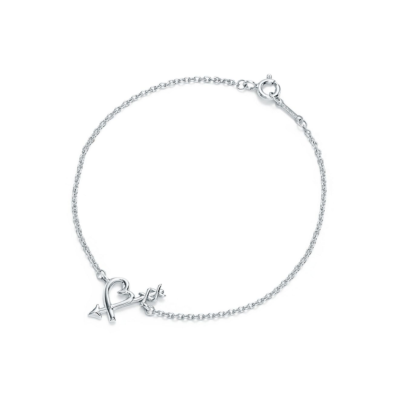 paloma picasso loving heart arrow bracelet in sterling silver