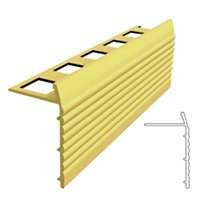 Metal Edging Gold Stair Nosing 3/8 in x 4 ft