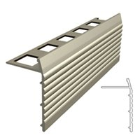 Metal Edging Bron Stair Nosing 3/8 in x 4 ft
