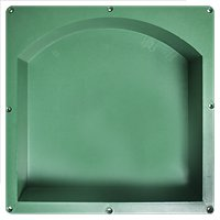 Pro Recessed Arched Shelf 14 x 14 x 3.5 in