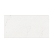 Calacutta Bianco Gloss REL (Single Bullnose Long Side) 3 x 6 in