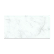 Carrara Gris Gloss (Double Bullnose Right Side) 3 x 6 in