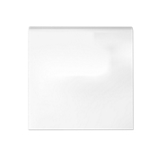 Imperial Bianco Gloss Single Bullnose 6 x 6 in