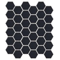 Hex Matte Black 2 x 2 in