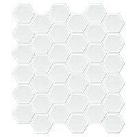 Hex Matte White 2 x 2 in