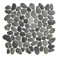 Black Pebbles (medium cut) 12 x 12 in
