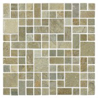 Baoding Creme Quartz Tumbled Random 12 x 12 in