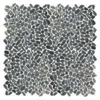 Black Sliced Pebble (Vertical Small) 13 x 13 in