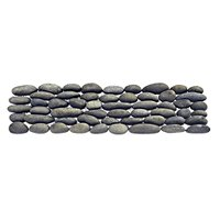 Grey Pebbles Listello 3 x 12 in