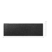 Shanxi Black Bullnose 4 x 12 in