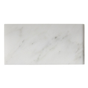 Hampton Carrara Polished Short Side Bullnose 3 x 6 in