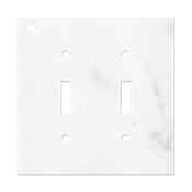 Lansdale Carrara Hampton Double  Switchplate