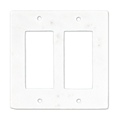 Lansdale Carrara Hampton Double Rocker Switchplate