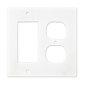 Lansdale Carrara Hampton Rocker Duplex Switchplate
