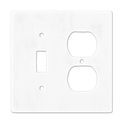 Lansdale Carrara Hampton Toggle Duplex Switch Plate 5.5 x 4.5 in