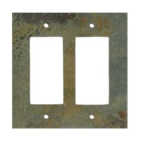 Copper Rust Double Rocker Switch Plate 5.5 x 4.5 in
