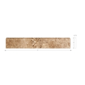 Cremna Noce Brushed Bullnose 2 x 12 in