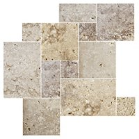 Capadocia Walnut Tumbled Small Versailles Pattern 9 SF