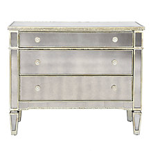 Borghese Mirrored 3 Drawer Chest