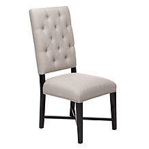 Rencourt Side Chair - Linen w/Molasses Legs