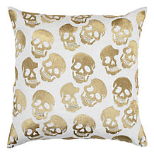 "Skull Pillow 24"" - Gold"