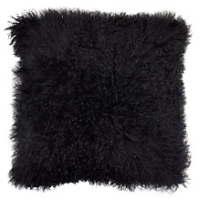 "Mongolian Pillow 22"" - Black"