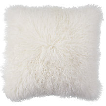 "Mongolian Pillow 22"" - White"