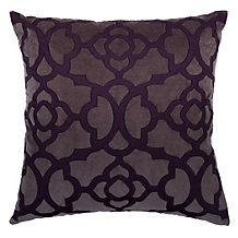 "Benito Pillow 24"" - Aubergine/Charcoal"