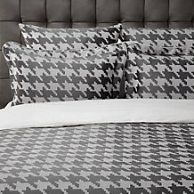 Houndstooth Bedding -  Charcoal