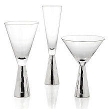 Midas Stemware - Sets of 4 - Silver