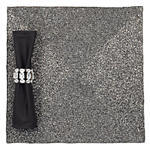 Beaded Placemat - Set of 4 - Charcoal